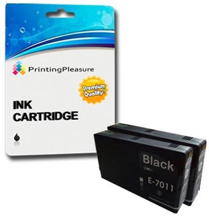 2 xxl compatibili cartucce d'inchiostro per epson workforce pro wp-4015dn wp-4025dw wp-4095dn wp-4515dn wp-4525dnf wp-4535dwf wp-4545dtwf wp-4595dnf - nero, alta capacità