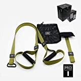 Grist CC Sangle De Suspension Fitness Trainer pour Sangle Multifonction Kit Renforcement Developement Musculaire Vert,p3.1
