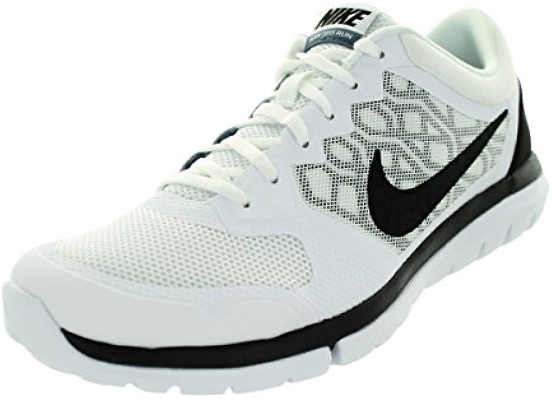 Zapatillas para correr Nike Men's Flex Experience RN 4 (blanco / azul, grafito / negro), 8 D (M) US