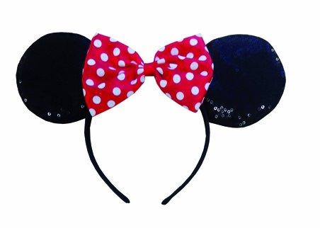 Disney Kinder Kostüm Zubehör Haarreif mit Minnie Maus ()