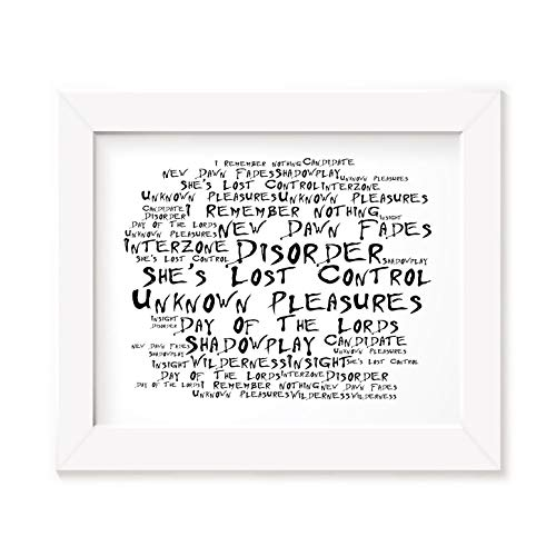 `Noir Paranoiac` Kunstdruck Poster - JOY DIVISION - Unknown Pleasures - Unterzeichnet und Nummerierten Limitierte Auflage Typografie Ungerahmt 25 x 20 cm Wand Kunst Druck Text Lyrisch Plakat - Song Lyrics Art Print Poster (Division-songs)