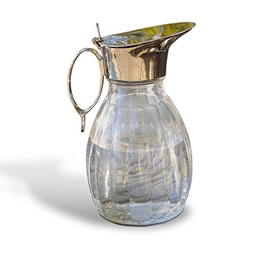 LOBERON Krug Agudelle, Glas, H/B/T ca. 23/16 / 11 cm, klar/silber