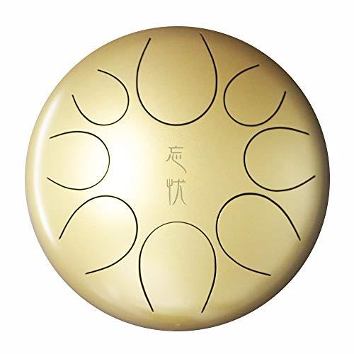 MBT Premium Tamburo metallico in do maggiore 22'Tamburo a percussione in acciaio con 8 note Tamburo elegante con bacchette e borsa per il trasporto Facile da suonare Strumento musicale Oro