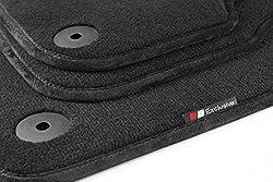 tuning-art LX363 Luxury-Line Velours Fußmatten, Bandeinfassung:Schwarz