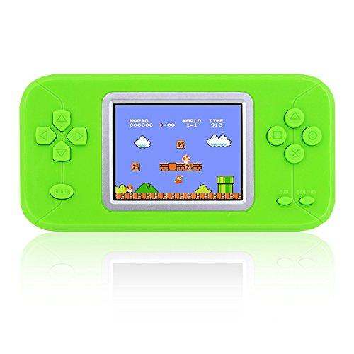 Konsole tragbar klassische Tragbare pré-chargée 246Spiele Retro mit Farbdisplay grün (Mädchen Für Xbox-spiele)