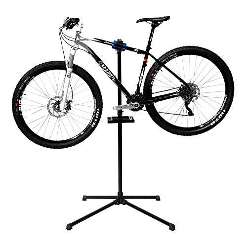WELLGRO® Fahrradmontageständer - Stahl, schwarz, gepolsterte Aufnahmeklammer - bis 30 kg belastbar