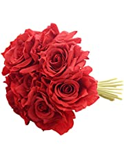 Fourwalls Artificial Polyester and Plastic Rose Bouquet