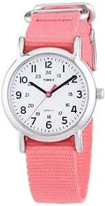 Timex Damen-Armbanduhr XS Weekender Slip_Through Strap Analog Quarz Nylon T2P368