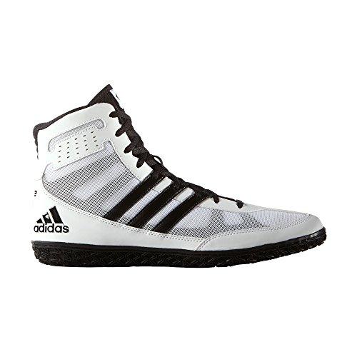 Adidas Asistente 3 negro y blanco de la estera UK 10.5 - EU 45