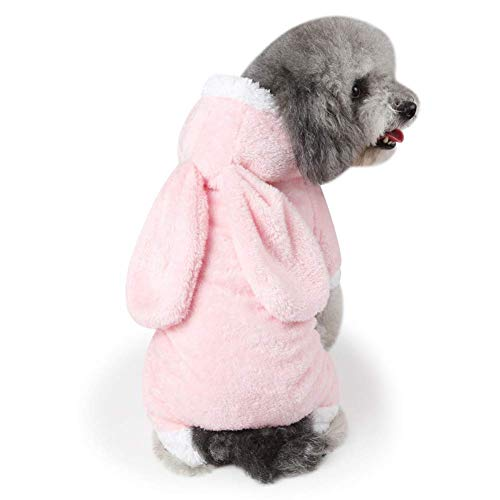 DOSNVG Winter Dog Clothes Warm Puppy Hooded Cosplay Costume Pet Clothes for Small Dogs (Color : PINK, Size : M)