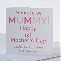 Mummy 1st Mothers Day card. Mother's Day Card for Soon to be Mummy. Mummy Mother's Day Card from The Bump. First Mother's Day card for Expectant Mum to be.