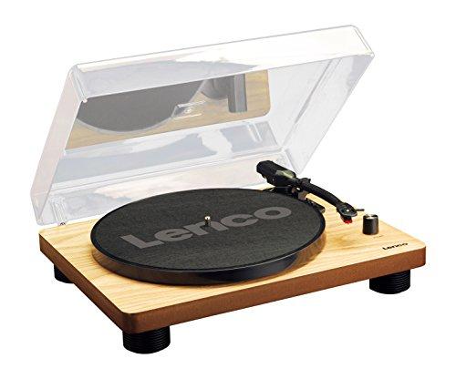 Lenco Plattenspieler LS-50 mit USB-Anschluss, im Holzgehäuse mit eingebauten Lautsprechern und integriertem Verstärker -