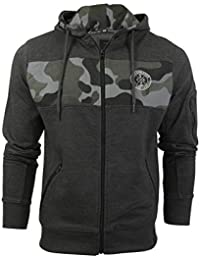 Crosshatch Mens Hoodie with Camo Panel by Camden'