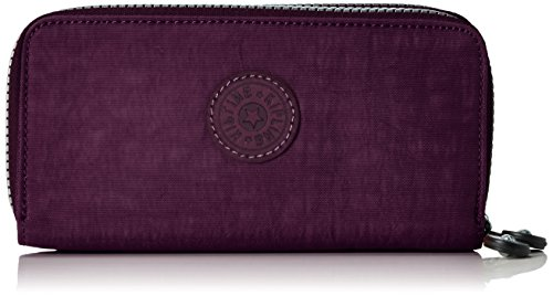 Kipling Uzario, Portafogli Donna, Viola (REF34Z Plum Purple), 10x18.5x3.5 cm