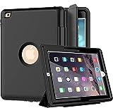 iPad 2/3/4Case, SEYMAC Three Layer Drop Protection Rugged Protective Heavy Duty iPad Case