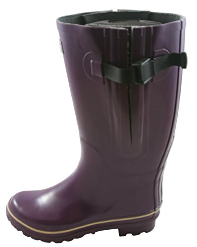 b91593f3385e Super Wide Calf Wellington Boots for Women - Purple