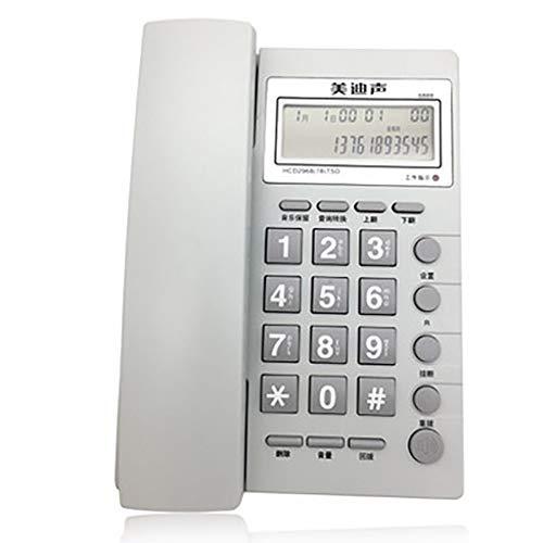 ZTMN Schnurgebundene Telefone Wandtelefon Anrufer-ID-Telefon, Home-Office-Hotel, Hotel-Bürotelefon, Musik-Stützmauer (Farbe: Weiß)