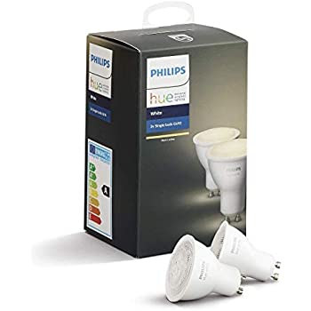 Philips hue White - Pack doble spot GU10 LED, blanco (compatible con Amazon Alexa, Apple HomeKit y Google Assistant)