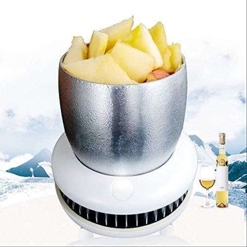 Preisvergleich Produktbild ZAZCB Tragbare Mini Kühlschrank Elektrische Sommer Getränkekühler Wasserkocher Trinken Sofortige Kühlung Tasse Auto nach Hause Fahrzeug Weinkühler Gefrierschrank weiß
