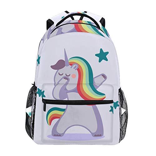 Arco Iris Kawaii Unicornio Mochila Escolar Impermeable