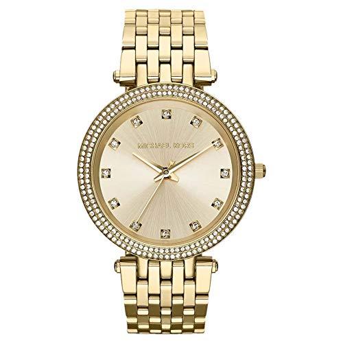 Michael Kors Damen Analog Quarz Uhr mit Edelstahl Armband MK3216