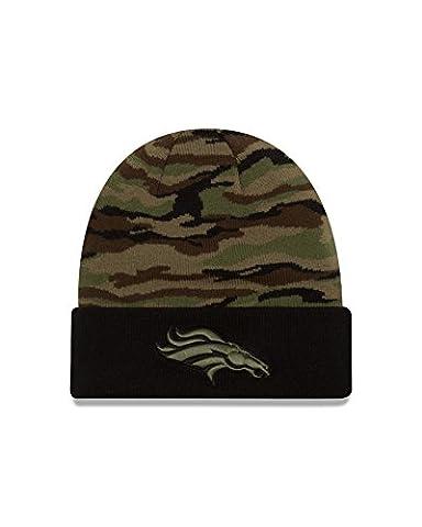 NFL Denver Broncos Print Play Knit Beanie, One Size, Woodland Camo