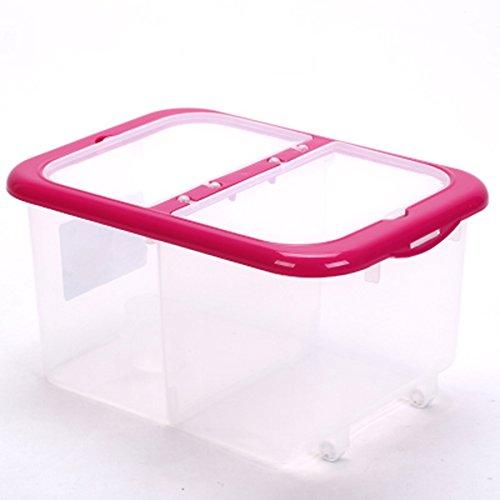 Metri Botti Rice Storage Box Kg di plastica di immagazzinaggio della copertura del serbatoio di controllo dei parassiti di umidità cucina con riso Serbatoio Botti di superficie ( colore : Rosa )