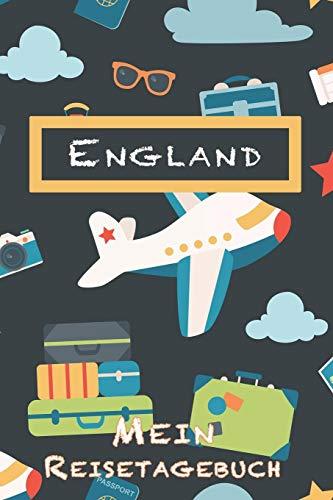 England Mein Reisetagebuch: 6x9 Kinder Reise Journal I Notizbuch zum Ausfüllen und Malen I Perfektes Geschenk für Kinder für den Trip nach England