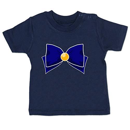 Karneval und Fasching Baby - Superheld Manga Venus Kostüm - 18-24 Monate - Navy Blau - BZ02 - Baby T-Shirt Kurzarm