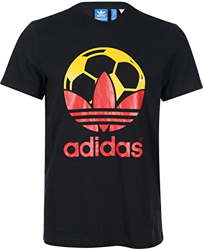 adidas Herren T-Shirt Country schwarz rot gold