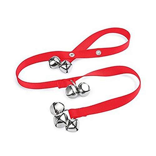 PeiXuan2019 7-Extra Large Laut 1.4 Türklingeln Premium Qualität Training Töpfchen Great Dog Bells Verstellbare Türklingel Dog Bells für Töpfchen-Training (Color : Red) (Bell Töpfchen Hund)
