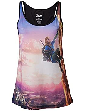 The Legend of Zelda Breath Of The Wild - Link Climbing Top Mujer multicolores