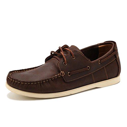 Zengvee Brown BoatShoes Lace-Up Flat Brown