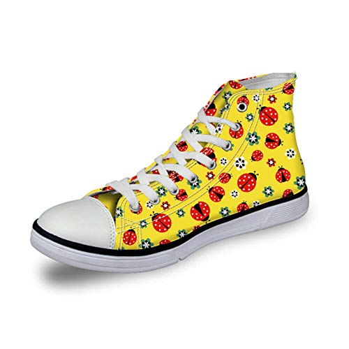 Natural Style Women Canvas Shoes Lace Up Casual Sneakers Fashion Plimsolls Pumps Yellow C4341AK UK 6 Dolce & Gabbana Print-heels