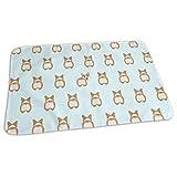 Kotdeqay Premium Wickelauflagen für Babywindelfor Infant Corgi Butt Portable Urine Pads Change Mat Great for Travel/Stroller/Bed/Car