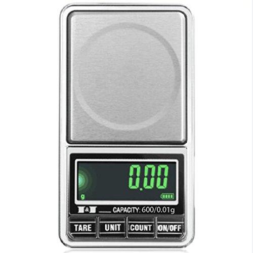 Elektronische digitale LCD-Taschenwaage USB-Schnittstelle Jewelry Waage Mehrzweck Küche Maßstab, 5, 600/0.01g