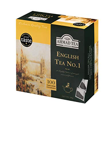 Ahmad Tea- English Tea No. 1 100 St. Schwarztee-Beutel á 2 Gramm ohne Band (Ahmad Tea English 1)