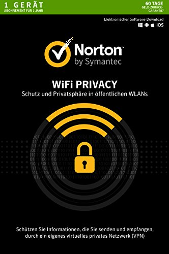 Norton Wi-Fi Privacy | 1 Gerät | PC/Mac/Android | Aktivierungscode in Standardverpackung