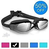 arteesol Swimming Goggles, Anti Fog Swim Goggles Crystal Clear 180° Panoramic Vision Mirrored