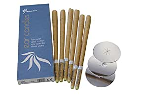 Sacred Soul Hopi Ear Candles Therapist Standard - Beeswax, Scented Aroma With Filters & Protector Discs (6 Pairs)