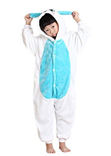 Kostüm Kinder Uk Stern (Rojean Kinder Kaninchen Pyjamas Tier Kostüm Onesie Kinder Schlaf Tragen Cosplay Weihnachten Halloween Geschenk für Mädchen und)