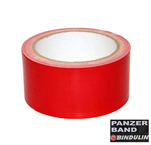 10 Meter Panzerband Farbe rot - Gewebeband Gafferband besonders fest, ideal für Bühnentechnik Haus Werkstatt Outdoor Garten Zelt Planen Poncho Eventboden - Klebeband 50mm x 10Meter red