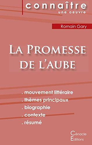 Fiche de lecture La Promesse de l'aube de Romain Gary (Analyse littéraire de référence et résumé complet)