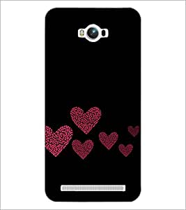 PrintDhaba Hearts D-2422 Back Case Cover for ASUS ZENFONE MAX ZC550KL (Multi-Coloured)