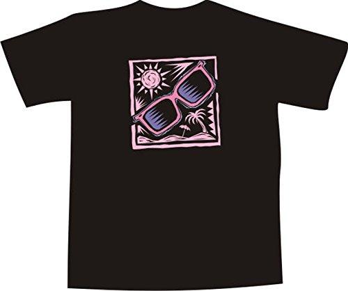 Black Dragon - T-Shirt F354 - weiß - Größe XXL - Malerei Strand Schattierungen - Funshirt Mann Frau Party Fasching Geschenk Arbeit - Bedruckt