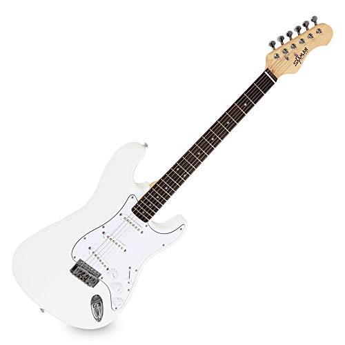 Shaman Element Series STX-100W - E-Gitarre in ST-Bauweise - geölter Hals aus Ahorn - Macassar-Griffbrett - weiß -