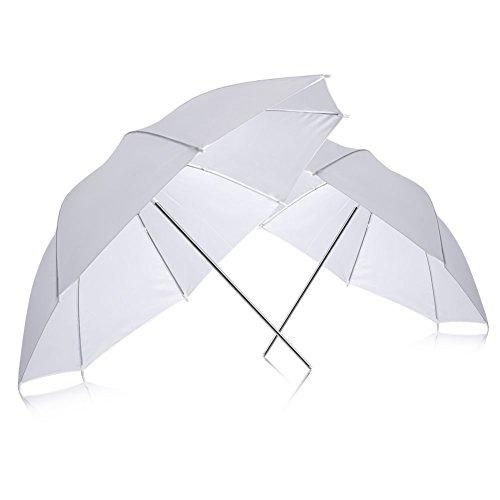 Neewer 2Professionelle Fotografie 83,8cm 83cm Studio Beleuchtung Reflektierende Flash Weiß transluzent Weiche Regenschirm