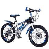 J.SF Kinderfahrzeug-Student 8-14 Jahre alte Scheibenbremse Speed Mountainbike-20 Zoll Shifting, High-Carbon-Stahl-Rahmen, Kinder-Balance-Training, blueshifting,24inches