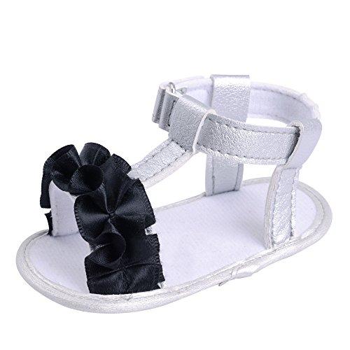 Sandali per neonati, Longra Scarpe da bambino fiore Nero