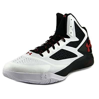 Under Armour , Chaussures spécial basket-ball pour homme multicolore Blanc/noir